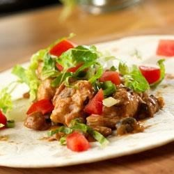 Slow Cooked Chicken and Bean Burritos