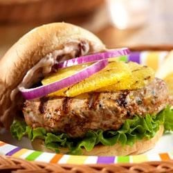 Zesty Turkey Burgers from Campbell's Kitchen Recipe - No more bland burgers . . . these easy to make turkey burgers use interesting ingredients, like cranberry sauce, mustard and salsa, to ensure that they're moist, juicy and really flavorful.