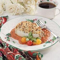 Halibut with Tomato-Basil Sauce