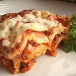 Simply Speedy Lasagna Recipe - This recipe, adapted to use the traditional flavors of Classico® Pasta Sauce, was originally submitted by Allrecipes home cook Sophie.