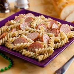 Voodoo Pasta Recipe - In less time than it takes the fusilli to cook, you can conjure up a spicy Alfredo sauce with blackened Smoked Sausage. When the pasta is done, just toss with the sauce. It's pure magic.