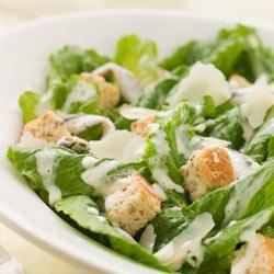 Dannon Caesar Salad Recipe - The traditional Caesar dressing with anchovies is made fresher and brighter with yogurt.