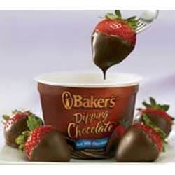 Chocolate-Dipped Strawberries Recipe - Sweet strawberries are dipped in creamy milk chocolate.