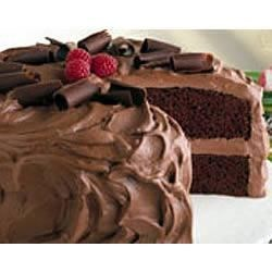 Chocolate Mousse Cake Recipe - This chocolate cake frosted with a rich and creamy chocolate mousse would make an excellent addition to your holiday table.