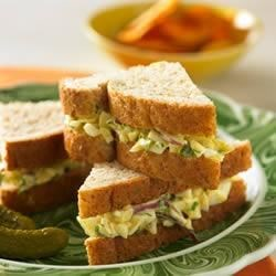 Curried Egg-white Salad Sandwich