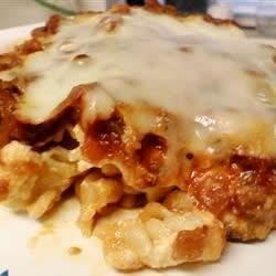 Penne Pasta Lasagna Recipe - This recipe, adapted to use the traditional flavors of Classico® Pasta Sauce, was originally submitted by Allrecipes home cook Regan.