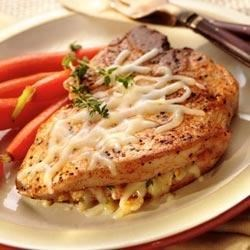 Italian Cheese Stuffed Pork Chops