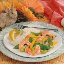 Shrimp with Snow Peas