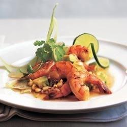 Lime Ponzu Shrimp and Corn Salsa