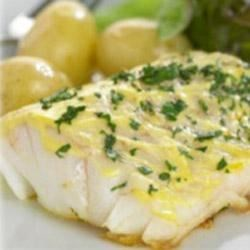 Fish with Maille(R) Dijon Originale Mustard Recipe - Simply season cod steaks with vegetable oil and Dijon mustard, brown them in a pan, and finish them in the oven, for a simple, foolproof fish dinner.