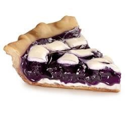 Blue Ribbon Stuffed Crust Blueberry Lime Pie Recipe - A double bottom crust filled with chopped almonds and sweetened cream cheese forms the base of this elegant blueberry pie with swirls of cream cheese on top.