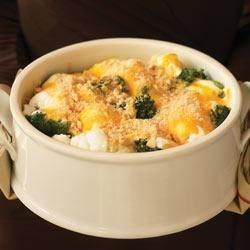 Easy Cauliflower and Broccoli au Gratin
