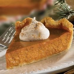 Lite Pumpkin Pie Recipe - Classic pumpkin pie is made a little lighter with Karo(R) Lite Syrup.
