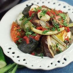 Hariton's 'Famous' Vegetarian Casserole Recipe - This is a very tasty dish consisting of all kinds of fresh vegetables and herbs baked in the oven. This will tantalize your taste buds. It has been a sell-out at our Greek Church at every function for five years now. We serve this on toasted, warm pita bread.
