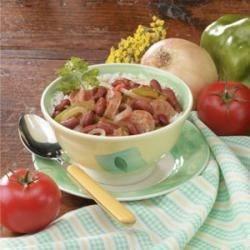Kidney Bean Sausage Supper