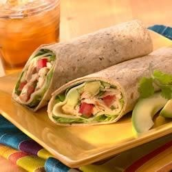 Chicken, Avocado and Provolone Wraps