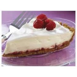 Raspberry-Lemon Pie Recipe - Fresh raspberries and lemon zest combine in a creamy pie for an easy, refreshing dessert.