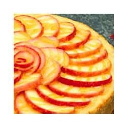 Apple Cinnamon Cheesecake by EAGLE BRAND(R) Recipe - A cinnamon-spiced apple cheesecake is baked on top of a crunchy oat crust and drizzled with a cinnamon apple glaze.