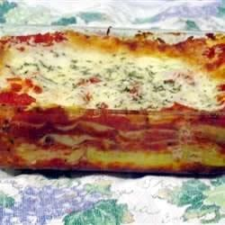 Three Cheese Lasagna Recipe - This recipe, adapted to use the traditional flavors of Classico® Pasta Sauce, was originally submitted by Allrecipes home cook MOLSON7.