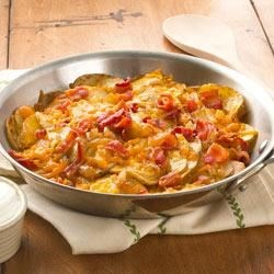 Skillet Potatoes with Bacon and Cheddar
