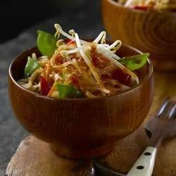 Vegetable Pad Thai with Snow Peas
