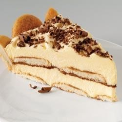 Easy Tiramisu Pie Recipe - Strongly brewed coffee is drizzled over layers of vanilla flavored wafers and creamy vanilla pudding in this quick and easy version of the classic Italian dessert.