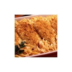 Cheesy Chicken with Pasta Recipe - So simple, so satisfying, this fast and easy chicken with pasta casserole is made with Campbell's(R) Supper Bakes(TM) Cheesy Chicken with Pasta.