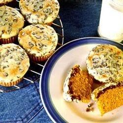 Polka Dot Pumpkin Cupcakes