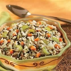 White and Wild Rice Pilaf Recipe - A special rice pilaf sports sauteed onion, carrots, celery and parsley and both white and wild rice simmered in savory Swanson(R) Vegetable Broth.