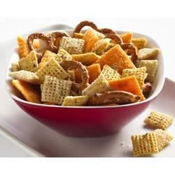 Cheesy Ranch Chex(R) Mix Recipe - You'll really enjoy this tasty snack that's highlighted with the popular flavor of ranch dressing.