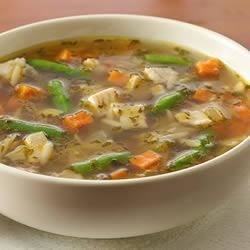 Next Day Turkey Soup Recipe - This delicious turkey soup with green beans and sweet potato is a delicious way to use leftover turkey meat, and it's ready in less than an hour.