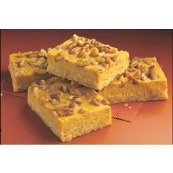 Pumpkin Cheesecake Bars from EAGLE BRAND(R) Recipe - These delicious pumpkin bars are made with a cakey crust layer, a creamy cheesecake layer, and a crunchy nut layer for maximum satisfaction.