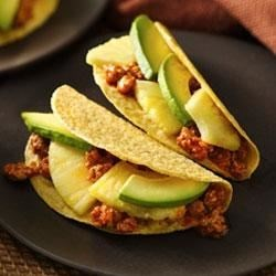 Ground Turkey Tacos Recipe - Mouthwatering Mexican dinner ready in just 20 minutes. Serve these turkey tacos made using Old El Paso(R) taco seasoning mix and shells.