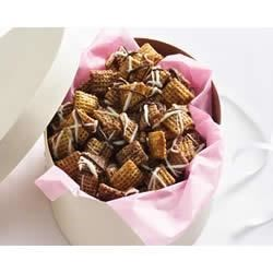 Chocolate Chex(R) Caramel Crunch Recipe - Plain brown sugar and butter turns into caramelly goodness that surrounds chocolate cereal squares for a scrumptious crunchy snack.