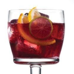 Red Sangria with Truvia(R) Natural Sweetener Recipe - The flavor of this red sangria is brimming with fruit and a spicy twist.  Enjoy it over lots of ice on a hot summer night.  Sweetened with Truvia(R) natural sweetener, this refreshing drink contains only 80 calories per serving.