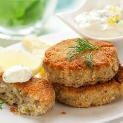 Mini Crab Cakes Recipe - Crab cakes made with Greek nonfat yogurt are mini bites of bliss. A fun, festive appetizer!