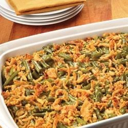 Hometown Green Bean Casserole Recipe - This traditional casserole is not just for holidays anymore! It's a warm and satisfying side dish perfect for any meal.