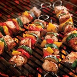 Italian Pork Kabobs with Summer Vegetables Recipe - These Italian Pork Kabobs with Summer Vegetables burst with fresh color and flavor. Tender chunks of pork and vibrant veggies get together in an incredibly easy recipe you'll love to grill all season long.