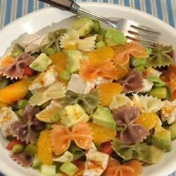 Wacky Mac(R) California Pasta Salad Recipe - A west-coast take on the traditional pasta salad blending Wacky Mac, chicken, mandarin oranges and avocado.