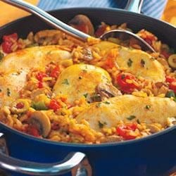 Green Olive Chicken I Recipe -  The salty sharpness of olives defines this stewed chicken, onion and potato dish.