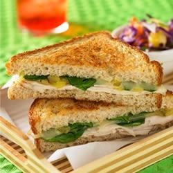 Cuban-style Grilled Turkey Sandwich