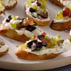 Goat Cheese Crostini with Grape Salsa Recipe - Allrecipes.com