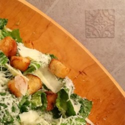 Caesar Salad III Recipe - If you 're on a restricted diet, this is the Caesar salad for you. Egg replacement does the trick. No one will be the wiser when you toss the crisp romaine with this fabulous dressing.
