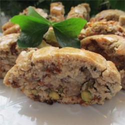 Cinnamon Biscotti with Pistachios  Recipe - Bake up a batch of these cinnamon and pistachio biscotti for your coffee, to share with friends, or to give as gifts.