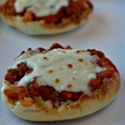 English Muffin Pizza Recipe - Make-your-own mini pizzas made with English muffins are a fun meal for birthday parties or afternoon snacks.