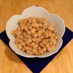 Sage Fried White Beans Recipe - I like to make these beans after a night of...indulging. They're subtle yet substantive -- a great way to start your day.
