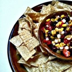 Quick Black Bean Salsa Recipe - Using cans of black beans and shoepeg corn gives you a shortcut to having salsa on your table in mere minutes.