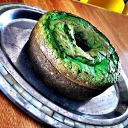 Creme de Menthe Cake II Recipe - Yellow cake mix with pistachio pudding, creme de menthe liqueur and chocolate chips mixed in. Easy, with a festive green color!