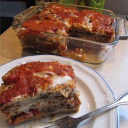 Baked Eggplant Parmesan with Easy Sweet Spaghetti Sauce