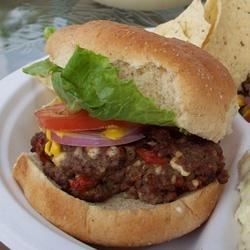 Sun-dried Tomato and Blue Cheese Burgers